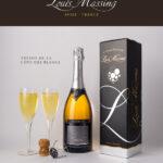 Affiche pour le millésime du champagne Louis Massing à Avize