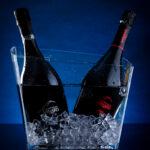 Bouteilles dans seau à glace du champagne Minard et Filles