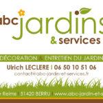 Carte de visite pour ABC Jardins & Services