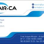 Carte de visite pour la société industrielle AIR-CA