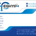 Carte de visite pour la société industrielle EQHYP