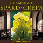 Panneau en Dibond pour signaler le champagne Gaspard-Crépaux à Cramant