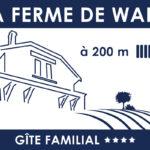 """Panneau en Dibond pour signaler le gîte """"La Ferme de Wary"""" à Brimont"""