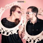 Séance photo de couple au studio