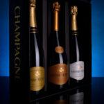 Coffret cadeau pour le champagne Gaspard-Crépaux à Cramant