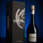 Etui et bouteille de champagne Louis Massing à Avize