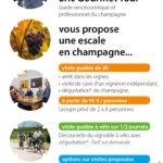 Flyer pour Eric Gourmet Tour, guide oenotouristique en Champagne