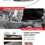 Flyer pour les Forges du Servan, coutelier forgeron en Suisse