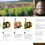 Plaquette pour le champagne Gaspard-Crépaux à Cramant